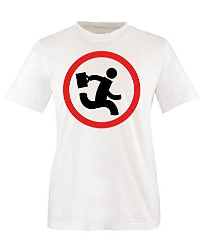 Comedy Shirts - Nerd Herd Logo - Chuck - Mädchen T-Shirt - Weiss/Schwarz-Rot Gr. 152/164