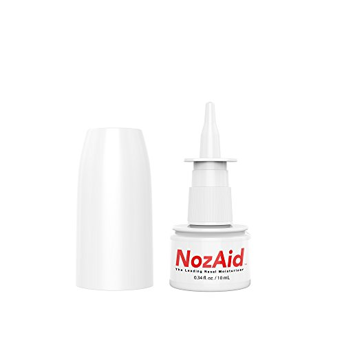 Nasal Moisturizer Spray with Sesame Oil .34 Ounce - Moisturizing Lubricant for Dry, Crusty, Cracked, Stuffy Nose Relief, Nosebleeds, Clear Breathing - Fragrance and Preservative Free by NozAid