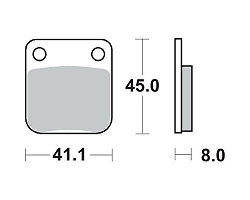 Garnitures de frein TRW MCB 510 pour Honda MBX 80 SW2 HC04 83-87 (avant)