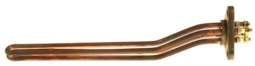 Radiator voor koffiezetapparaat 4000 W 230 V lengte 330 mm breedte 28 mm 2 verwarmingscircuits hoogte 55 mm aansluiting M6 bevestiging 3-gats flens