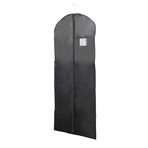 Store & Style - Funda guardarropa larga para abrigos y vestidos, 60 x 130cm (negro)