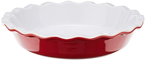 Emile Henry 9-Inch Pie Dish, Cerise Red