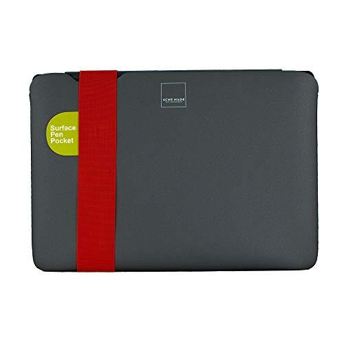 Acme Made Skinny Sleeve XS, Ultra-dünne Tablet- & Notebookhülle, 11-13 Zoll, Neopren, grau/orange