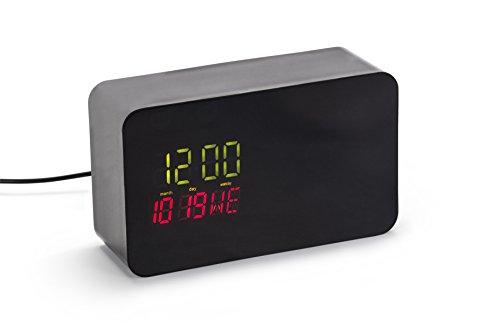 Nest Cam Versteck mit digitaler Uhr für die Wohnung – Gehäuse für Nest Cam und Dropcam Pro (schwarz)