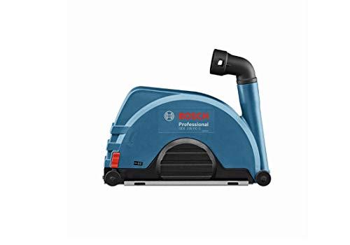 Bosch Professional 1600A003DL Caperuza de aspiración, para Discos de Corte de Amoladora 230 mm, Montaje con Tornillos, Azul y Negro