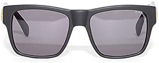 CROOKS&CASTLES サングラス UVカット スモークレンズ マット テンプル メデューサプレート (I1451208) O/S MATTE-BLACK