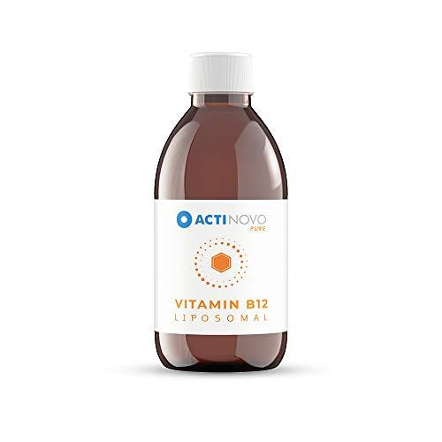 Vitamin B12 liposomal | Sanddorn 250 ml PURE | hochdosiert | für deine Energie | 5 ml = 50 µg Vitamin B12 | hohe Bioverfügbarkeit | flüssig | ohne Zusätze | vegan