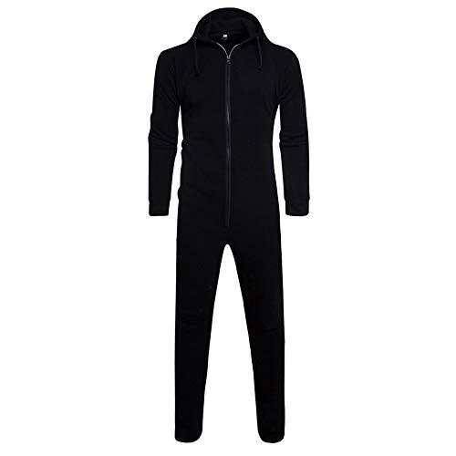 FRAUIT heren jumpsuit eenkleurig herfst winter casual hoodie onesie joggen sportpak trainingspak joggingpak eendelig full-body pak overall mannen bedrukt overall rits onesie