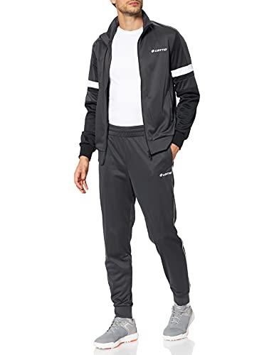 Lotto Herren Suit Circle IV Rib PL Trainingsanzug, Ebony/All Black, M