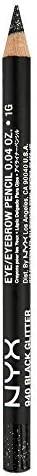NYX Cosmetics Slim Eyeliner Eyebrow Pencil Black Glitter product image