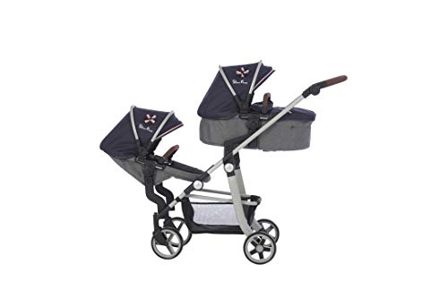 Silver Cross Wave Dolls Pram - Vintage Blue Fabric. For ages 7-13 years.