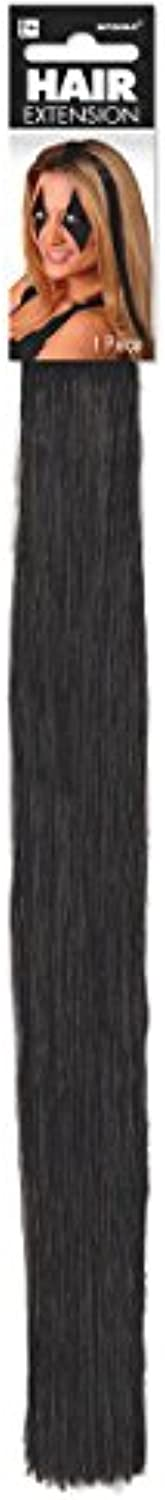 Amscan Adorable Party Wig, Black Hair Extension 15  (1Ct) 24 Packs Per Case