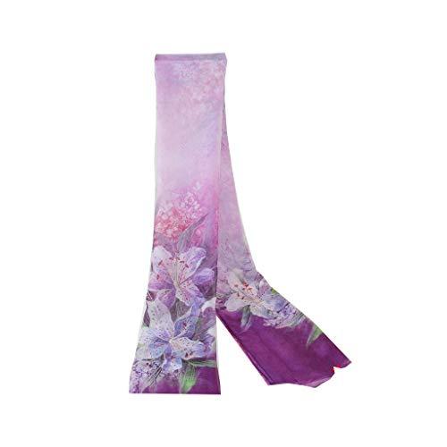 LHT Silk Scarf Female Silk Silk Shawl Versatile Mother Thin Thin Lady Scarf Silk Scarf Oversized Gift Stoles (Color : R)