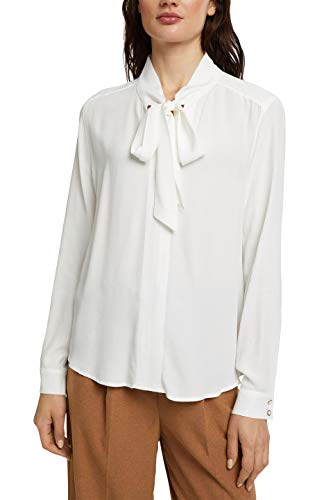ESPRIT Collection Damen 100EO1F311 Bluse, 110/OFF White, 40