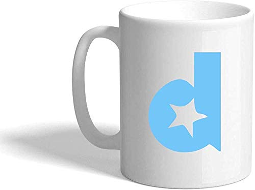 N\A D Sky Initial Monogram Letter D Taza de café de cerámica Taza Blanca