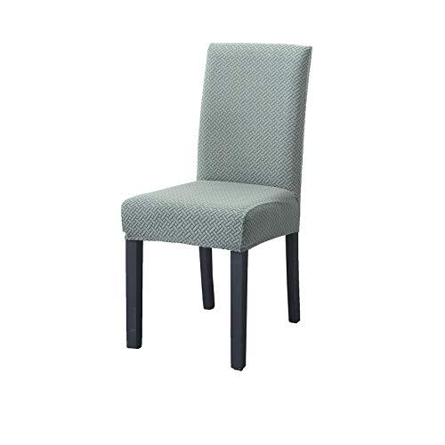PETCUTE Fundas para sillas de Comedor Universal Protectores de sillas de Cocina Fundas para sillas Modernas Respaldo Alto Verde 4 Piezas