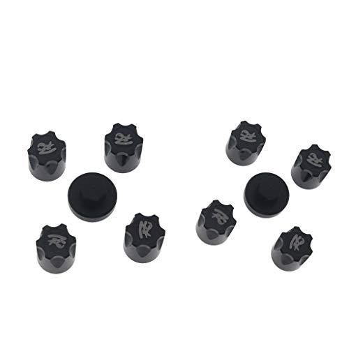 Sharplace 8Pieces Alum RC Car Wheel Rim Center Cap para 1/10 TRX4 D90 Negro