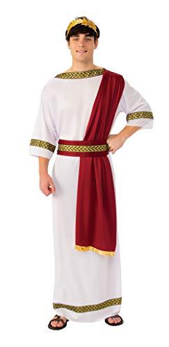 Bristol Novelty AC364 Griechischer Gott Kostüm, weiß, Chest Size 42-44-Inch