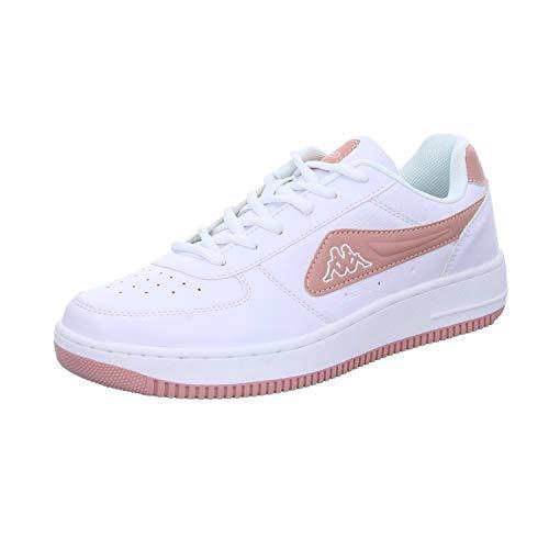Kappa Unisex-Erwachsene Bash Nc Sneaker, 1071 White/darkrosé,42 EU