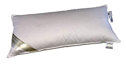 Hofmann Kopfkissen 40x80 cm 600g Daunenkissen Außensteg prall 100% Neue Daunen