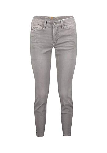 MAC Jeans Damen Dream CHIC Leo Zip Straight Jeans, Grau (Light Grey Used Wash D322), W44/L29 (Herstellergröße: 44/29)