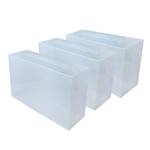 DYNASUN 3X PP368T Schuhbox Schuhkasten Lagerkasten Box Schuhschachtel für Aufbewahrung Schuhe Faltbare Halter für Damen und Herren