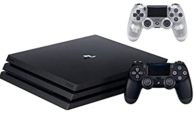 Sony PlayStation 4 Pro 1TB Console Bundle W / DualShock 4 Wireless Controller -Crystal | Blu-ray Disc Player | Wi-Fi | AMD Processor | HDMI Cable from Sony