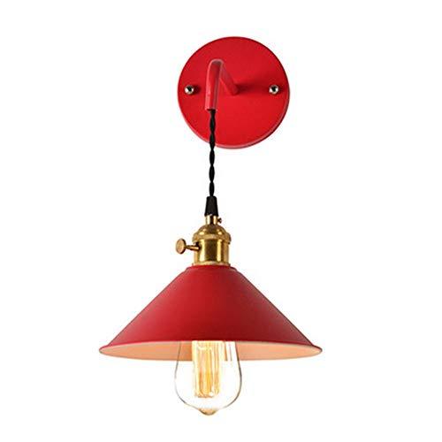 AOEIY Color rojo hierro lámpara pared Aplique Pared