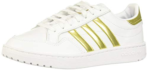 adidas Modern 80 EUR Court W, Chaussures de Course Femme, FTWR White Gold Met FTWR White, 39 1/3 EU