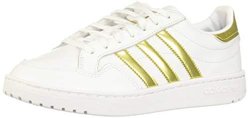 adidas Womens MODERN 80 EUR Court W Running Shoe, FTWR White/Gold Met./FTWR White