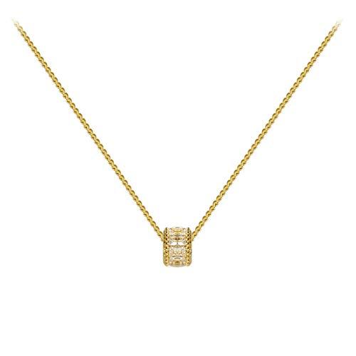 BCDZZ Élégant chaîne de clavicule Simple délicat Cristal ras du cou Collier bijoux Cadeau d'anniversaire Pour Les Femmes fille