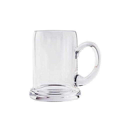N / C Jarras de Cerveza para el hogar. Materiales de Cristal sin Plomo seleccionados, soplados a Mano, Gruesos y estables, Elegantes y Hermosos, adecuados para familias y restaurantes