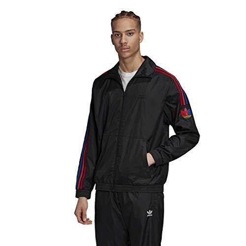 adidas Originals mens 3D Trefoil 3-Stripes Track Jacket Black X-Large