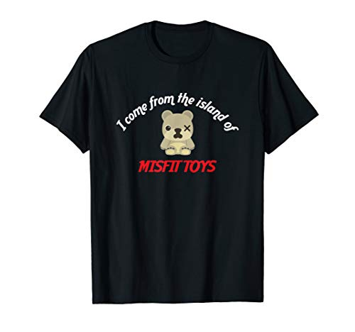 I come from the island of misfit toys bear Christmas T-Shirt
