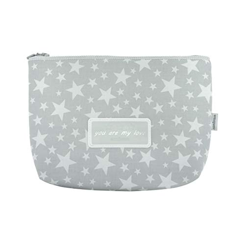 Cambrass Star Star You Are My Love Bolso Maternal de Aseo, 6 x 28 x 20 cm, Gris (Grey)