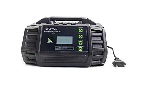 ERAYAK Savior, 12A Batterieladegerät 12V/24V KFZ, Autobatterie Ladegerät, Ladegerät Batterien, Intelligentes Erhaltungsladegerät und Desulfator Mit Automatischer Temperaturkompensation
