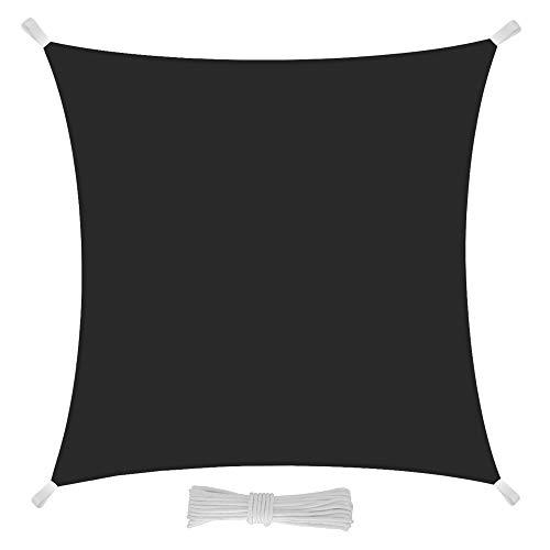 EGLEMTEK Tenda Parasole Quadrata a Vela Telo da Sole da Esterno - Protezione dai Raggi UV - Tessuto in Polietilene Resistente e Impermeabile - Colore Grigio
