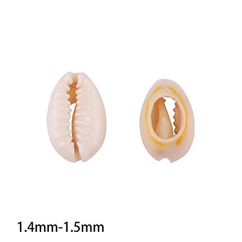Talla : 1.4mm 1.5mm NOLOGO Gxbld-yy 20pcs Perlas Naturales Mar Concha de Caracol Suelto for la decoraci/ón del hogar Bricolaje joyer/ía Que Hace Pendiente de la Pulsera joyer/ía ar Accesorios