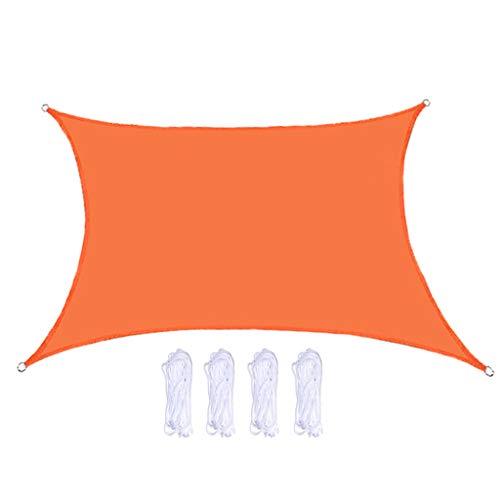 MERIGLARE Práctico Toldo de Patio de Bloque UV de Vela Parasol 3x3x3m para Patio Trasero Al Aire Libre - Naranja, 2x3m