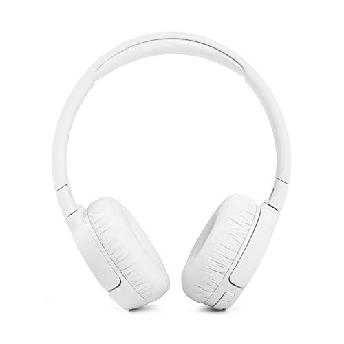 JBL Tune 660 BTNC On-Ear active Noise Cancelling Kopfhörer – JBL Pure Bass Sound – Via Bluetooth- oder Kabel-Verbindung – Weiß