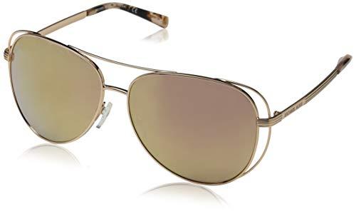 Michael Kors 0MK1024 Gafas de sol, Shiny Rose Gold/Tone, 58 para Mujer