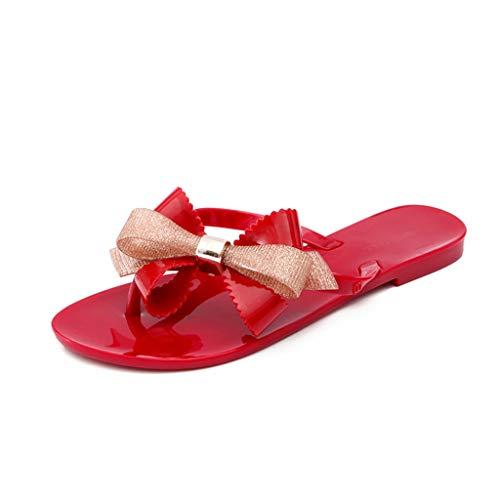 Dames Zomer Draag Flip-Flops Mode Plat met Multiplex Slippers Seaside Beach Schoenen Teen Flip-Flops Jelly Schoenen Vakantie Comfort