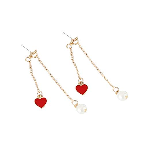 ZKHONG Heart Earrings Dainty Love Heart Circle Dot Stud Earrings Personalized Birthday Valentines Gift for Women Girls