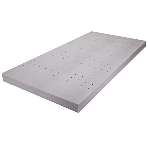 Ergonomic Sleep 4 Inch Gel Foam Mattress Topper Pad, King
