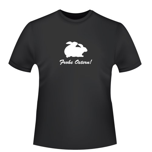 Frohe Ostern, Herren T-Shirt - Fairtrade, Größe 3XL, schwarz
