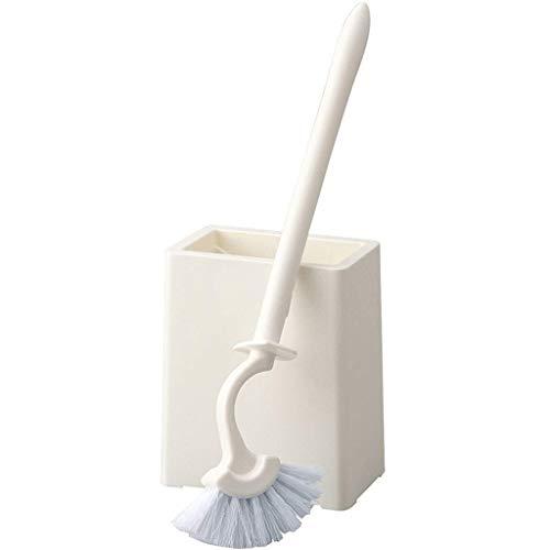 Guuisad Casa de inodoro, cepillo de inodoro Conjunto de cepillo de inodoro Cepillo de inodoro y soporte, cepillo de inodoro con cepillo curvo Cabeza y cerdas en forma de ventilador, cepillo de taza de