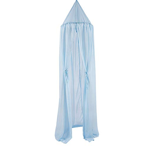 ClodeEU Kid Baby Bed Canopy Bedcover Mosquito Net Curtain Bedding Round Dome Tent Cotton for Home Decor Light Blue