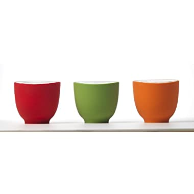 iSi Basics Flexible Silicone Prep Bowls, Set of 3, Red, Orange, Wasabi