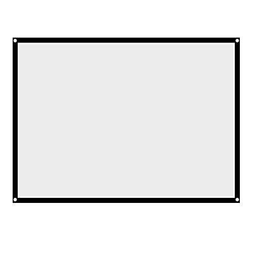 Richer-R Rolloleinwand Beamer Leinwand, Projektion Leinwand 100 Zoll Portable Faltbare Beamerleinwand,Tragbar Leinwand 4: 3 Heimkino Projektionsfläche für Outdoor-Camping-Film/Open-Air-Kino