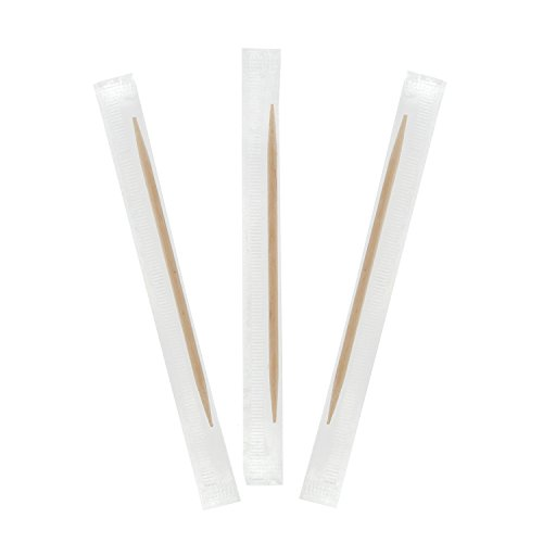 Royal Plain Individual Cello Wrapped Toothpicks Package of 1000